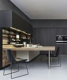 Varenna kitchen..Get inspired.. byCOCOON.com for Contemporary Minimalist Modern Luxury Design Bathrooms & Kitchens to live in &.. COCOON! Modern kitchen design ideas by #COCOON Dutch designer brand.