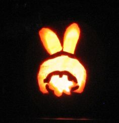 Bernie the Halloween Bunny stencils from Annie's Homegrown!