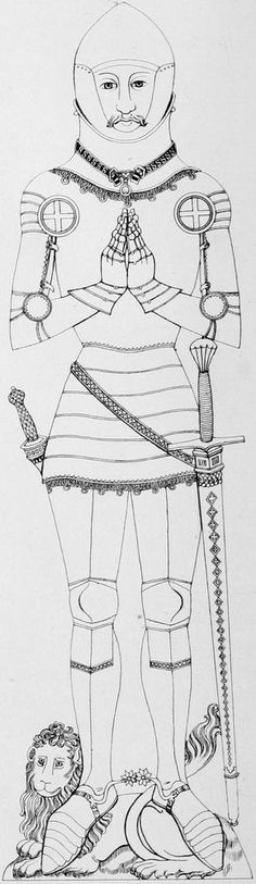 Thomas Swynborn Dating 1412 Church of St Peter and St Paul, Little Horkesley, Essex, England.  http://effigiesandbrasses.com wonderful site for historical reference, if your looking for armors and fashions.