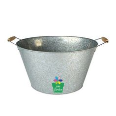 Galvanized Party Tub Vintage Large Silver Metal Beer Tub Ice Cooler Bucket