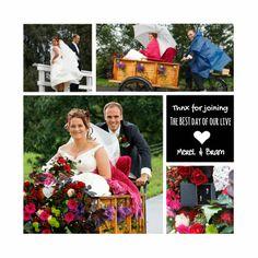 Moie trouw bedankkaart voor je mooiste foto's. Leuk als aandenken aan deze bijzondere dag voor je familie en vrienden op je huwelijk.