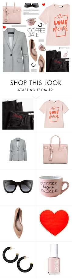 """""""Coffee Date"""" by tamara-p ❤ liked on Polyvore featuring Madewell, Yves Saint Laurent, Gucci, Steve Madden, ban.do, Essie and CoffeeDate"""