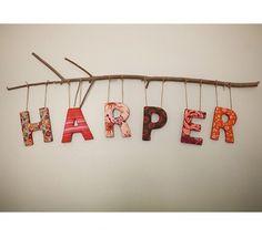 New Baby Diy Nursery Ideas 22 Ideas Nursery Letters, Diy Letters, Nursery Themes, Nursery Room, Girl Nursery, Baby Room, Nursery Ideas, Wooden Letters, Hanging Letters