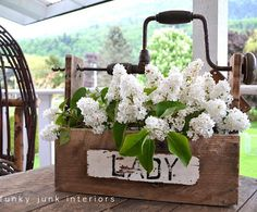 DIY Handled Toolbox/Planter - An inspirational piece of rustic home decor!