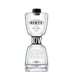 BOWTIE Dry Gin bottle and label design on Behance