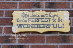 Doodlecraft: Wonderful Life Curly Wood Sign!