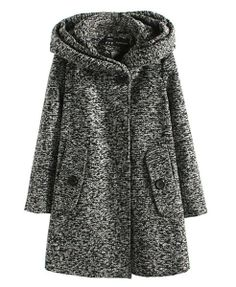 Casual Hooded Long Coat - Jackets & Coats - Clothing