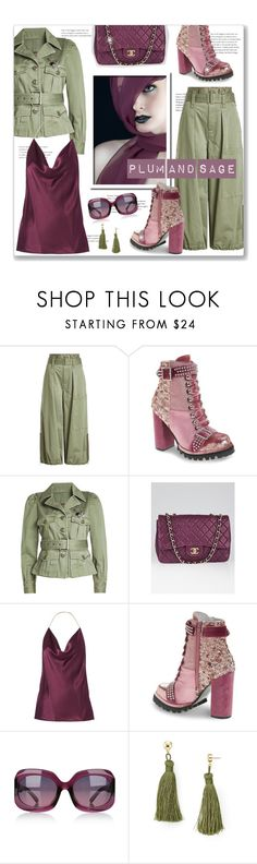 """""""Plum & Sage"""" by leanne-mcclean ❤ liked on Polyvore featuring Marc Jacobs, Jeffrey Campbell, Chanel, Cushnie Et Ochs, dvb and Aqua"""