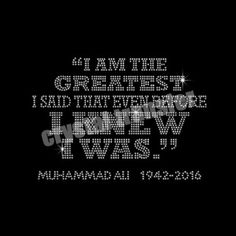 t shirt with stones design for Boxing King Muhammad Ali