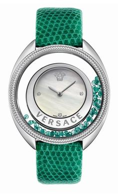 Versace green watch:))