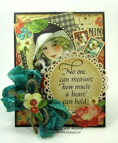 """""""No one can measure"""" card using Graphic 45 papers, Quietfire Design stamp and Spellbinders die set."""