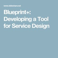 Blueprint+ | SLIDES