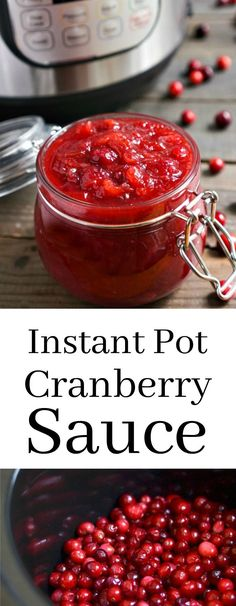 This Instant Pot Cranberry Sauce is a must-have side dish for your Thanksgiving table. Such an easy, healthy holiday recipe! Gluten-free, vegan recipe from @realfoodrecipes realfoodrealdeals.com     via @realfoodrecipes