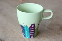 Sharpie Mug - Morning Creativity Cute & Simple gift idea and a great excuse to get a bunch of sharpie colors