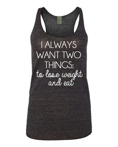 Funny Lose Weight and Eat Tank Top Moms Mommy Funny by GracebyKate