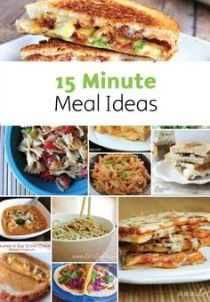 PIN FOR LATER: A great collection of 15 minute meal recipes for your family lunches and dinners.