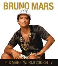 Bruno Mars To Bring The 24K Magic World Tour To North America And Europe In 2017