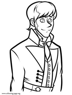He Is A Observant Intelligent And Chivalrous Character From Disneys Movie Frozen Coloring PagesFree