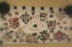 90th Birthday Bulletin Board Photo Display