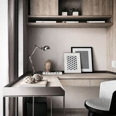 Ideas for home office in bedrooms are not difficult to come by. The primary focus of a home office in the bedroom is likely to be the privacy that is needed to complete the design. Decor, House Interior, Office Interiors, Interior, Study Room Design, Bedroom Design, Home Office Decor, Home Decor, Office Design