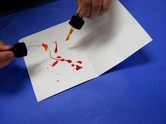 inkblot art - dropping paint  rhythmandglues.wordpress.com