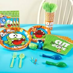 Om nom party supplies