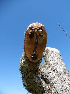 Henry Matisse graphische arbeiten machten die Auswahl schwer welches Gesicht es auf eine Baumscheibe hier schafft, hier wurden alte Schmiedenägel und ein gebrauchtes Kupferblech des Kunst Auftraggeber verwendet.