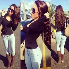 #casual outfit #hair color # beautiful