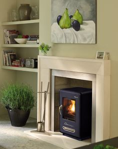 Love this retro twist on a log burner