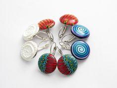 Ohrhänger - Art Polymer Clay Ohrringe  Fimo Ohrhänger - ein Designerstück von filigran-Design bei DaWanda