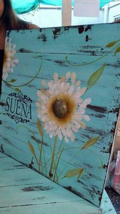 Tole Painting, Painting On Wood, Wood Crafts, Diy And Crafts, Decoupage Vintage, Pallet Art, Art Floral, Yard Art, Painting Inspiration