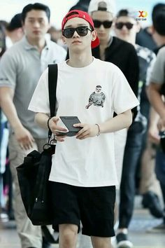 140615- EXO Chen @ Wuhan Airport  Incheon Airport #exom #fashion