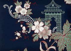 Secondhand Rose wallpaper, Chinoiserie , originally uploaded by Gatochy . Textiles, Textile Prints, Textile Patterns, Chinoiserie Wallpaper, Chinoiserie Chic, Chinese Element, Chinese Art, Chinese Style, Japanese Prints
