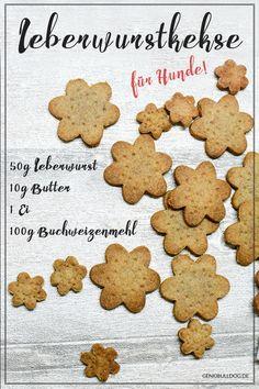 DIY Hundekekse: Leberwurst Kekse für Hunde selbst backen