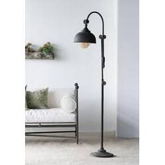 Picking out the best lamp for your home can be tough as there is such a wide selection of lamps you could choose. Get the perfect living room lamp, bed room lamp, table lamp or any other type for your selected room. Farmhouse Floor Lamps, Rustic Floor Lamps, Industrial Floor Lamps, Farmhouse Flooring, Modern Floor Lamps, Urban Industrial, Industrial Lighting, Modern Lighting, Industrial Style