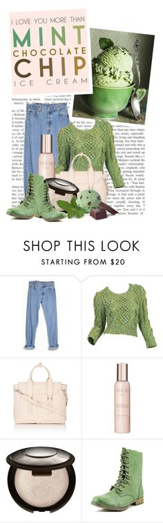 """""""i love you more than mint chocolate chip ice cream"""" by queenrachietemplateaddict ❤ liked on Polyvore featuring Levi's, 3.1 Phillip Lim, Show Beauty, Skechers, women's clothing, women's fashion, women, female, woman and misses"""