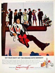 1966 Ad Vintage Smirnoff Vodka Party Sid Caesar Actor Movie Star Comedian YLZ2