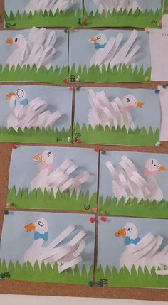 I wonder if I could use fractions for measuring the feathers. Daycare Crafts, Classroom Crafts, Preschool Crafts, Animal Crafts For Kids, Easter Crafts For Kids, Art For Kids, Origami, Puppet Crafts, Footprint Art