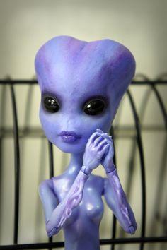 Violetta Star Custom Monster High Doll - Dollicious Customs Create A Monster Sea Purple Alien on Etsy, $95.00