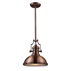 Chadwick antique copper pendant