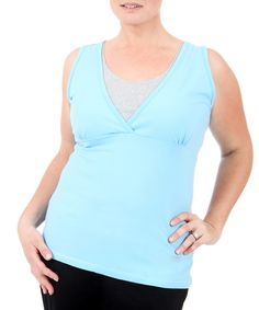 Another great find on #zulily! Blue Double-Layer Tank - Plus #zulilyfinds