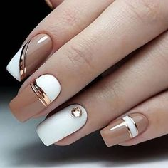Too beautiful nude nails😍 - Marry Unhas nude linda demais😍 – Marry Ko. Too beautiful nude nails😍 – much - Square Nail Designs, Elegant Nail Designs, Fall Nail Designs, Cute Nail Designs, Latest Nail Designs, Simple Nail Art Designs, Cute Acrylic Nails, Cute Nail Art, Nude Nails