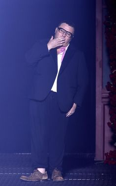 Alber Elbaz at his last show for Lanvin