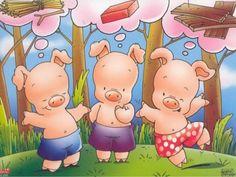 Three Little Pigs Fairy Tale Theme, Fairy Tales, Pig Drawing, Storybook Characters, Three Little Pigs, Nursery Rhymes, Preschool Activities, Storytelling, Pikachu