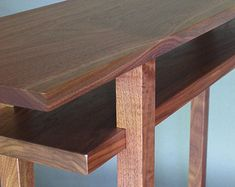 Modern Wood Narrow Hallway Table: Narrow by MokuzaiFurniture