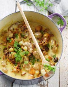 Recept voor kalfsblanquette met champignons   njam!
