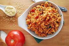This Mexican Millet is a fun and healthy twist on Spanish rice! Millet is my new love. Its crunchy without being impenetrable and has this mysteriously sweet yet savory taste. It is also a good source of iron which I'm excited about right now being a nursing mom and having recently cut out red meat. I've been dumping it in all my breads and muffins lately and was super excited when I came across this Mexican millet recipe which basically turns it in to Spanish rice. I'm sure I wil...