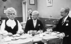 Are You Being Served? Humphries (John Inman) and Captain Peacock (Frank Thornton) - I remember watching this during those late nights of insomnia, I always thought it was too funny. British Sitcoms, British Comedy, Are You Being Served, Color Television, Married With Children, Uk Tv, All In The Family, Comedy Tv, 80s Kids