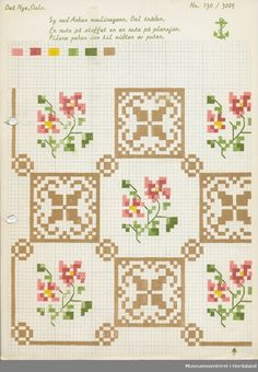 DigitaltMuseum is a common database for Norwegian and Swedish museums and collections. Beaded Cross Stitch, Cross Stitch Borders, Cross Stitch Samplers, Cross Stitch Charts, Cross Stitching, Cross Stitch Embroidery, Cross Stitch Patterns, Modern Embroidery, Embroidery Patterns