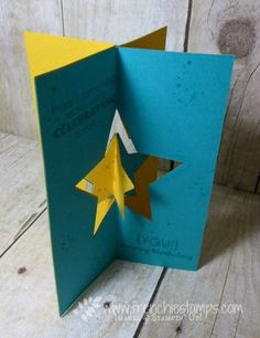 Stamp & Scrap with Frenchie: Floating Stars 3 or 4 side cards